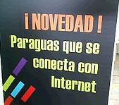 Internet Eguna LLodio Álava 17 mayo 2008 paraguas que se conecta con Internet